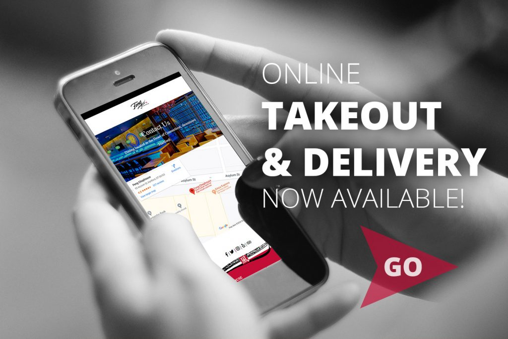 We are now open for takeout and delivery!